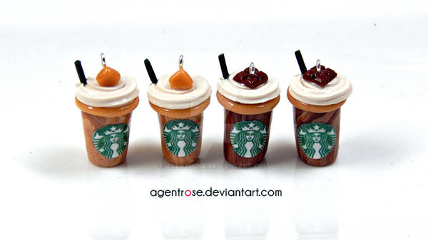 Chocolate Caramel Starbucks Coffee Charms by AgentRose