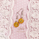 Chocolate Chip Cookies: Polymer Clay Food Earrings by AgentRose