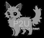 P2U Chibi Cat Lineart