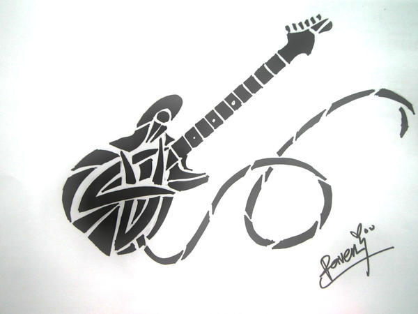 tribal guitar by ravenkhaw on deviantART