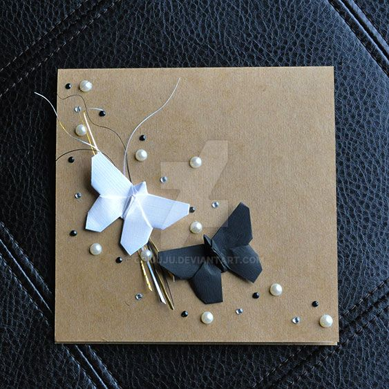 origami wedding card by orijuju on deviantart