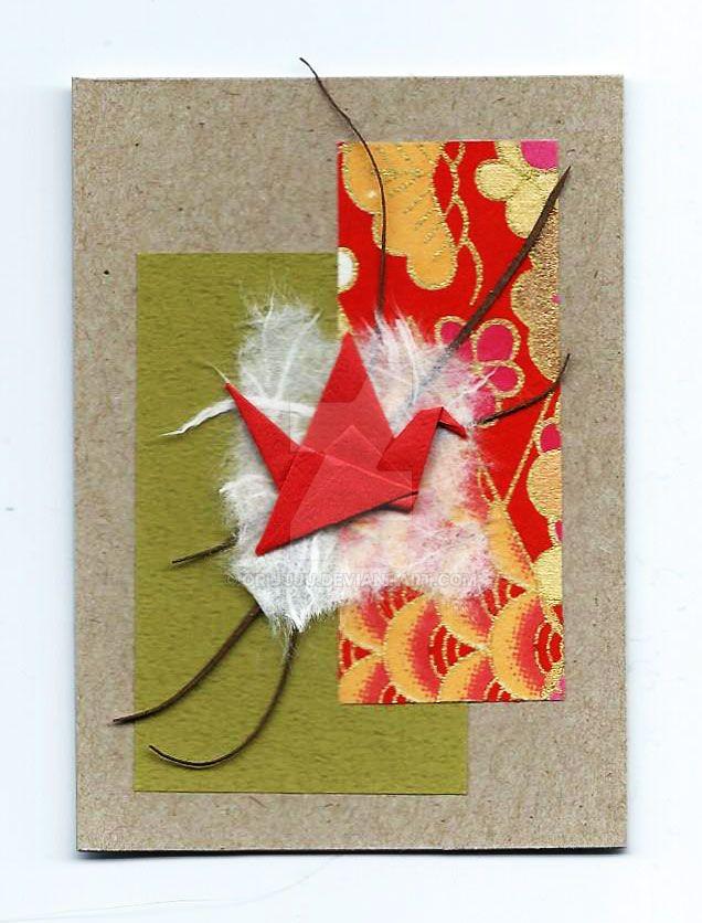 Origami-crane-12-aceo by orijuju