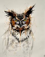 Mixed Media owl by McKMills
