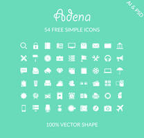 Freebie - 54 Free Simple Icons by GraphBerry