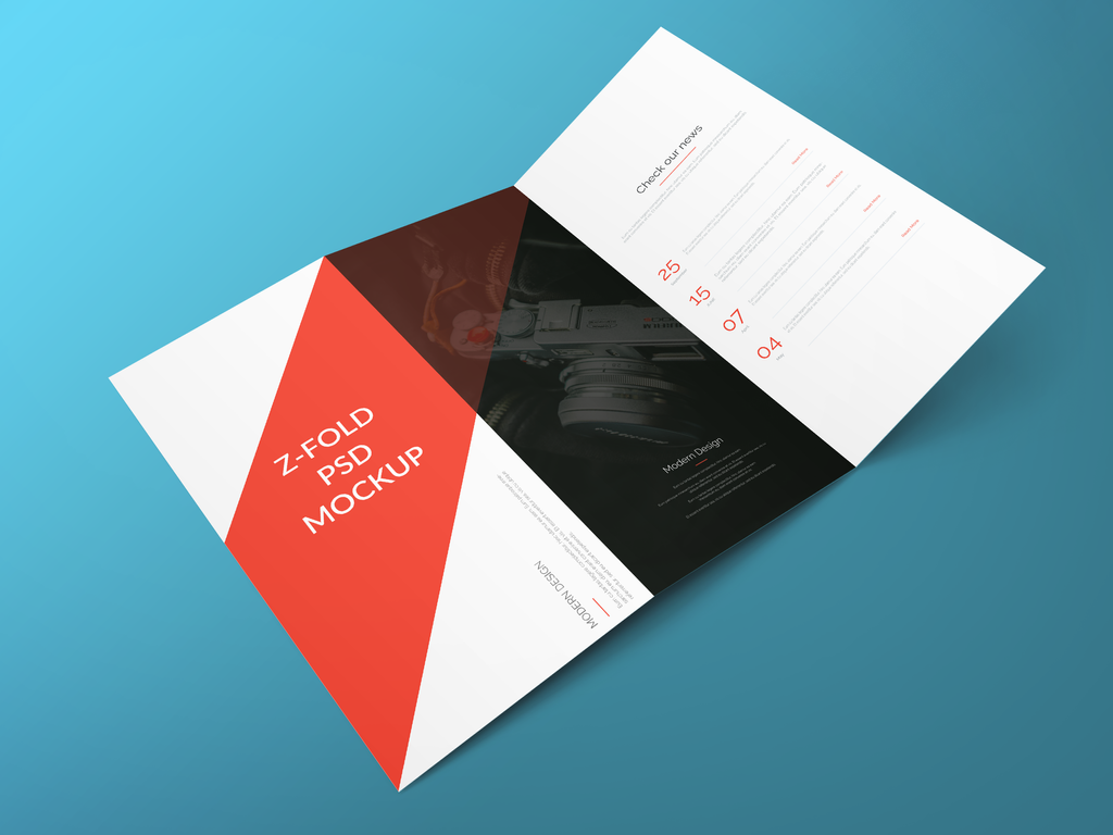 Freebie - Z Fold Brochure PSD Mockup by GraphBerry on ...