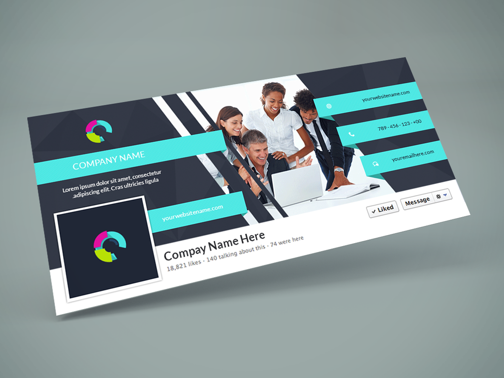 facebook page design template free - freebie facebook cover psd design template by graphberry