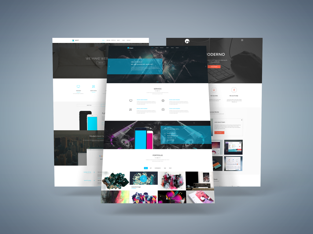 Freebie 3d web presentation mock up by graphberry on 3d site