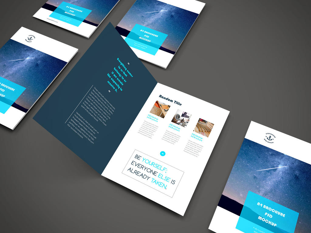Freebie - A4 Brochure PSD Mockup by GraphBerry on DeviantArt