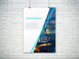 Freebie - A0 PSD Poster Mockup by GraphBerry