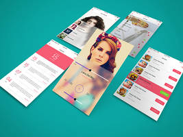 Freebie - App Screen Showcase Mockup by GraphBerry