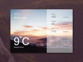 Freebie - Weather Widget Ui Design by GraphBerry