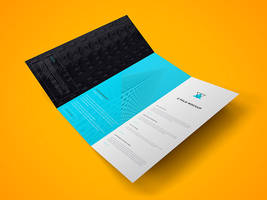 Freebie - Z Fold Brochure PSD Mockup by GraphBerry