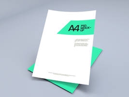 A4 Paper PSD Mockup by GraphBerry