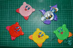 Kirby clay magnets :D
