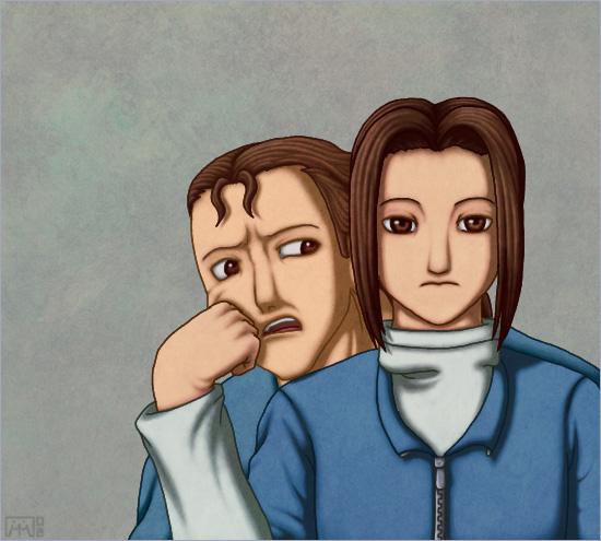 Get off my shoulder... by matsunoki