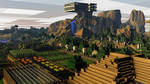 [Rendered|1080p] Minecraft View Above the Farm