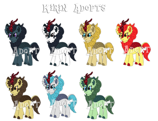 Kirin Adopts Batch #1 [Auction](Closed) by SyncedsArt