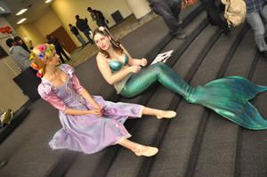 Rapunzel makes friends by KatieMermaid