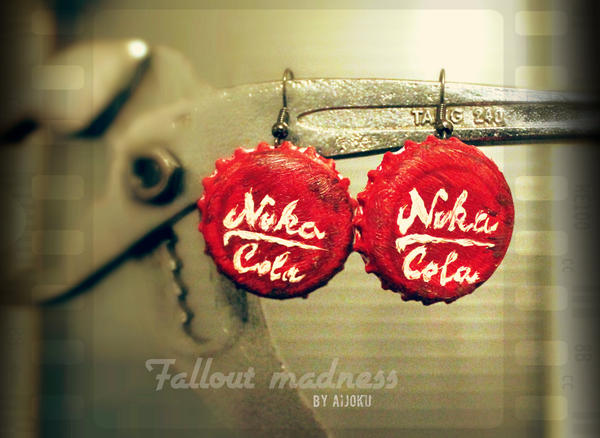 Nuka Cola earrings by Aijoku