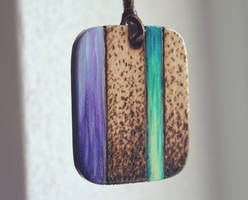 The sound of water - Wooden amulet