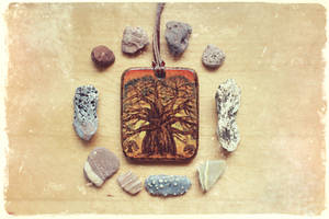 Baobab - Wooden pendant