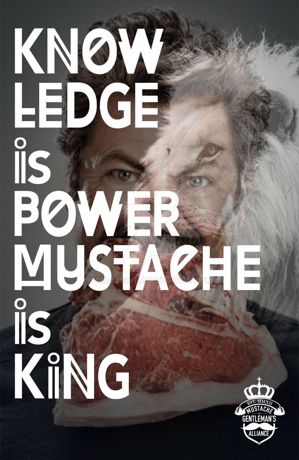 Swanson - Mustache is King by CabalSeven