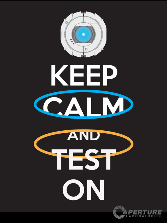 portal 2 keep calm and test on poster 2 by cabalseven on deviantart