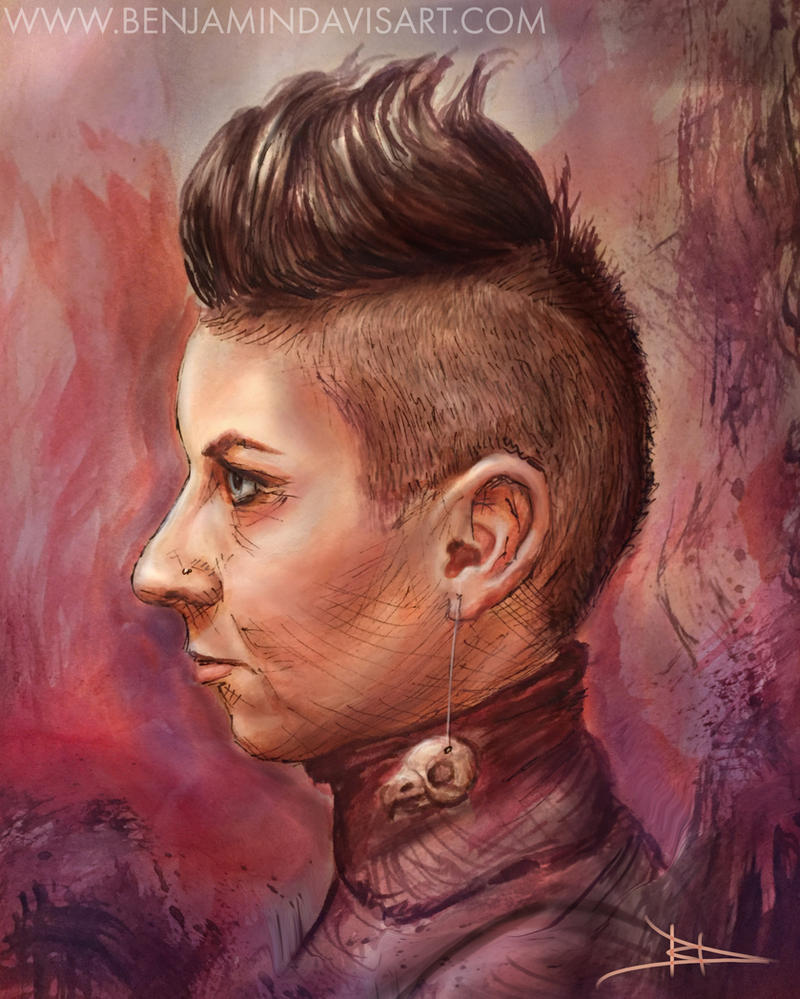 Punk Portrait 1 by BenDavisArt