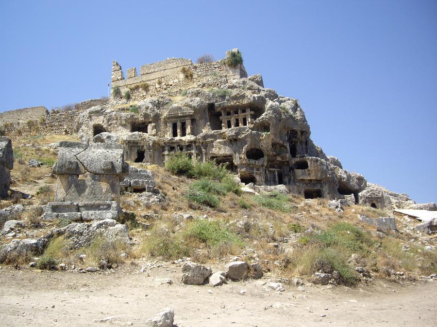 ancient ruins stock