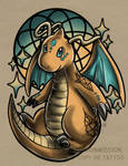 Dragonite Tattoo Commission