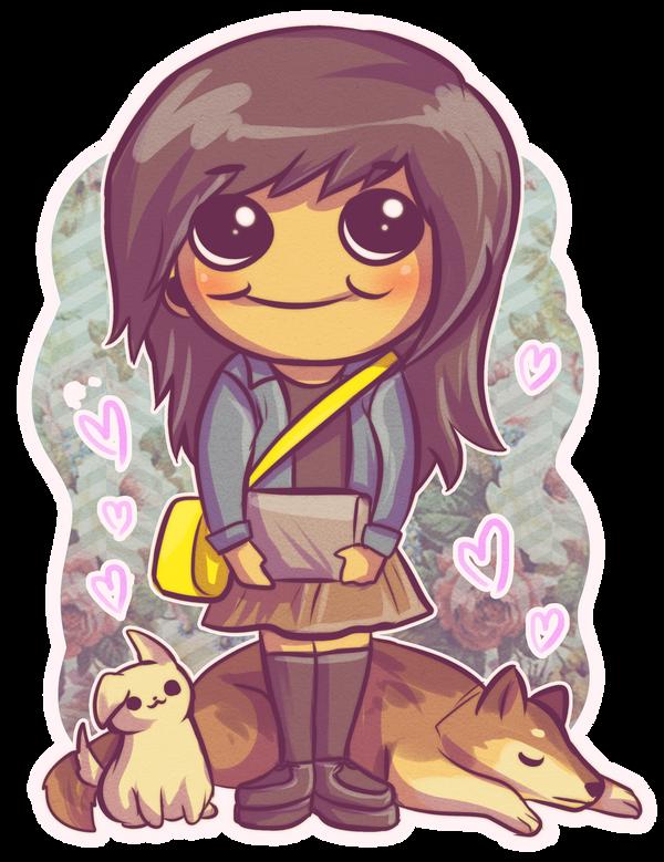 Dog lady by RetkiKosmos