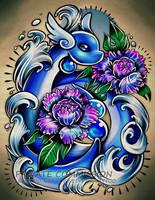 Dragonair Tattoo Commission by RetkiKosmos