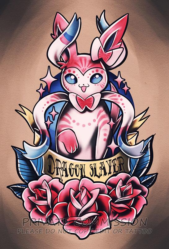 Sylveon Tattoo Commission by RetkiKosmos on DeviantArt  Sylveon Tattoo ...
