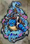 Blastoise Tattoo Commission 2