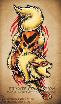 Arcanine tattoo commission