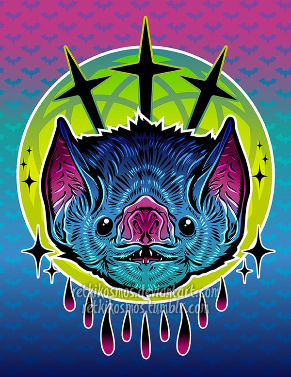 Colorful Bat Painting