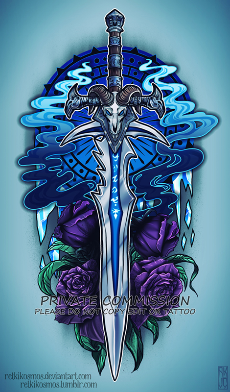 Lich king sword commission by retkikosmos on deviantart for Lich king tattoo