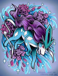 Suicune Tattoo Commission by RetkiKosmos