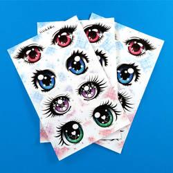 Shojo Eyes sticker sheet by RetkiKosmos
