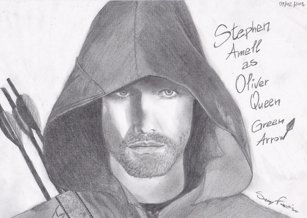 Stephen Amell as Oliver Queen drawing by Rikku-Jin