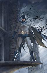 Batman looking over his city by benttibisson