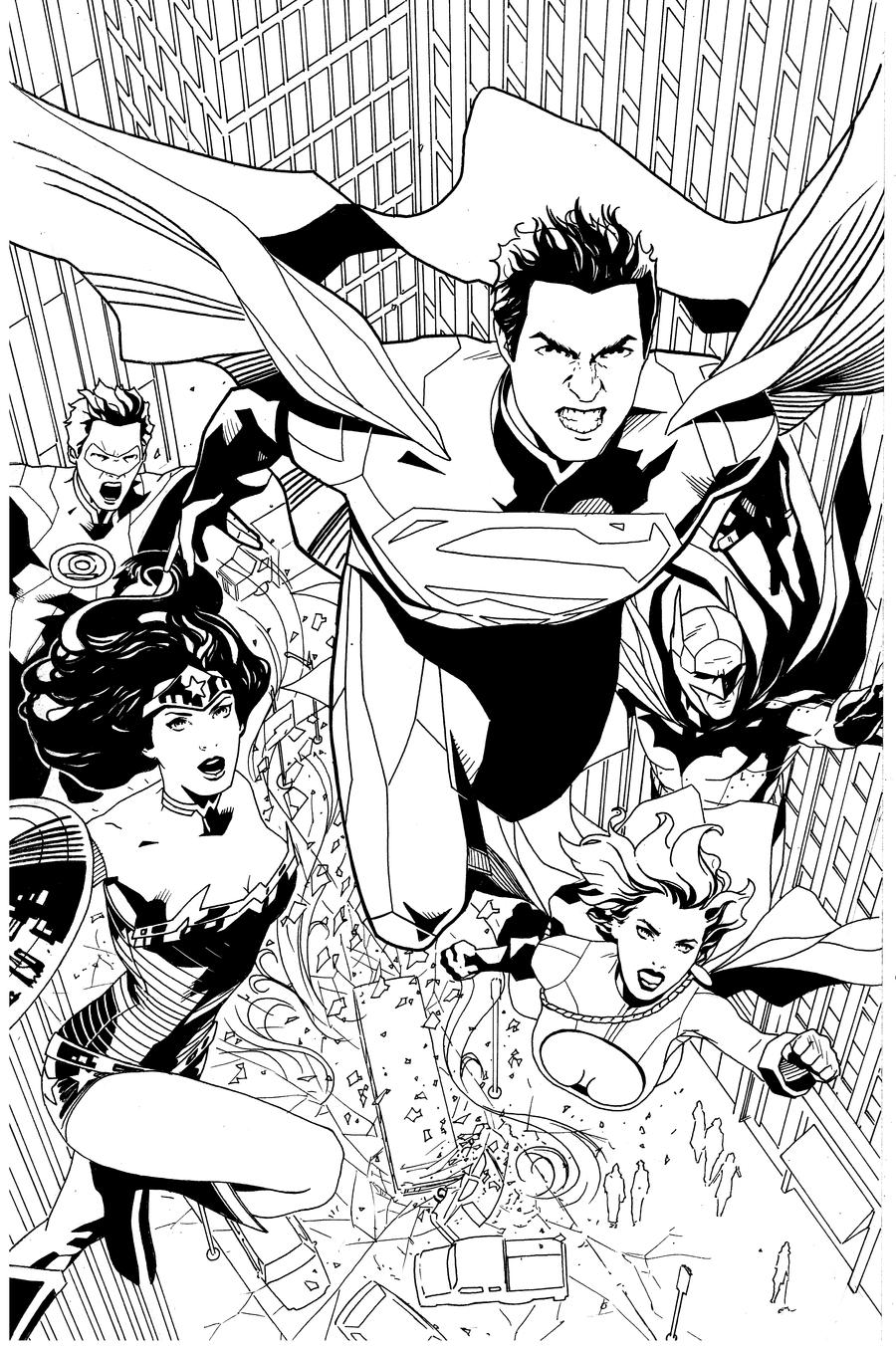 Superman and team by benttibisson