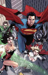 Superman and Team Colored