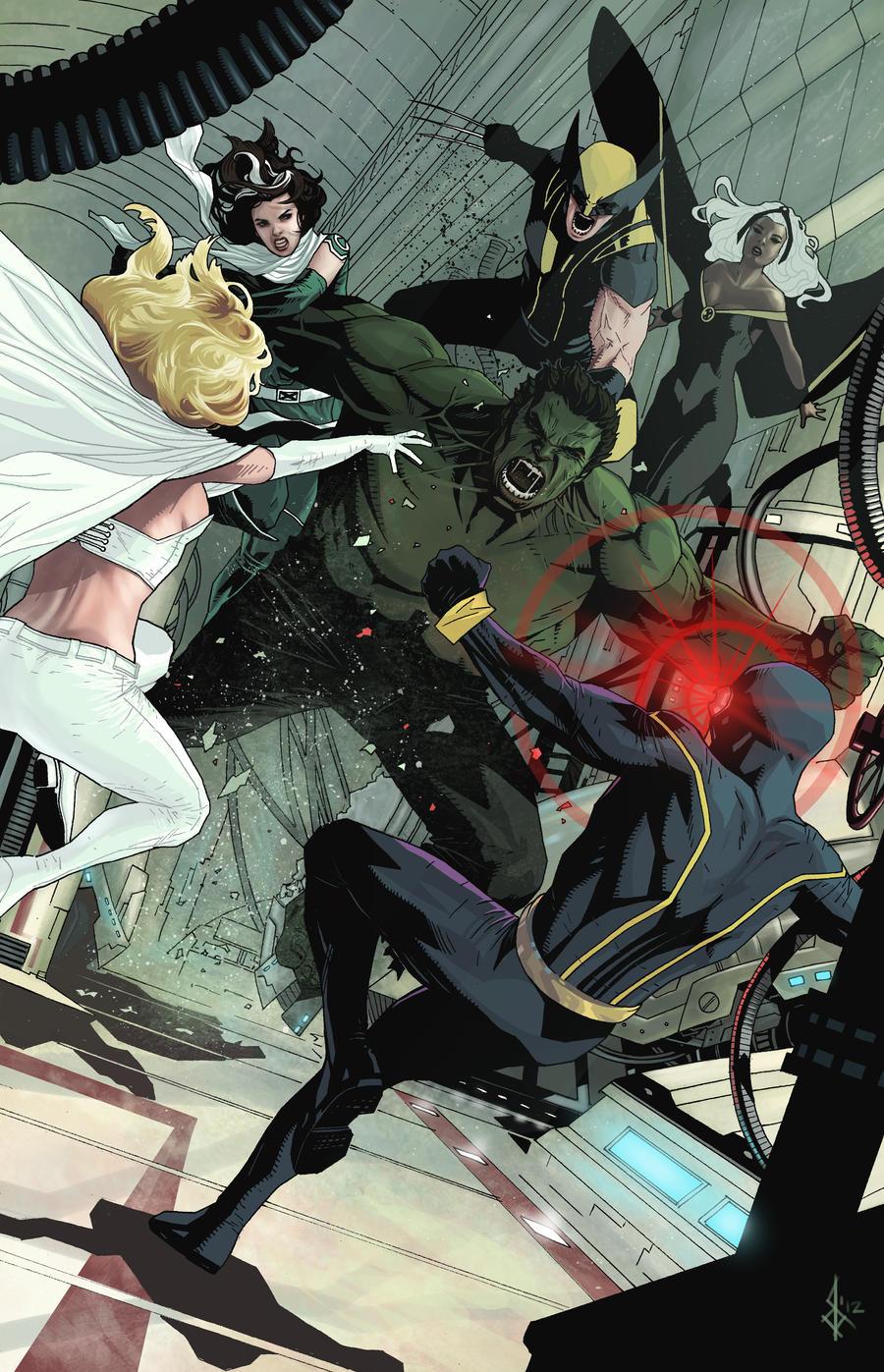 xmen and hulk by benttibisson