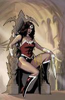 wonder woman on the throne by benttibisson