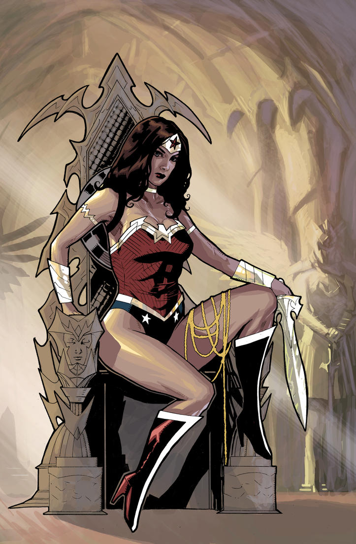 wonder woman on the throne by benttibisson