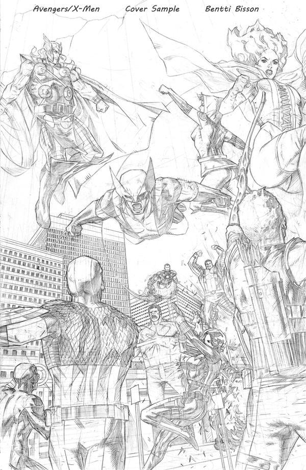 avengers x men cover sample 1 by benttibisson