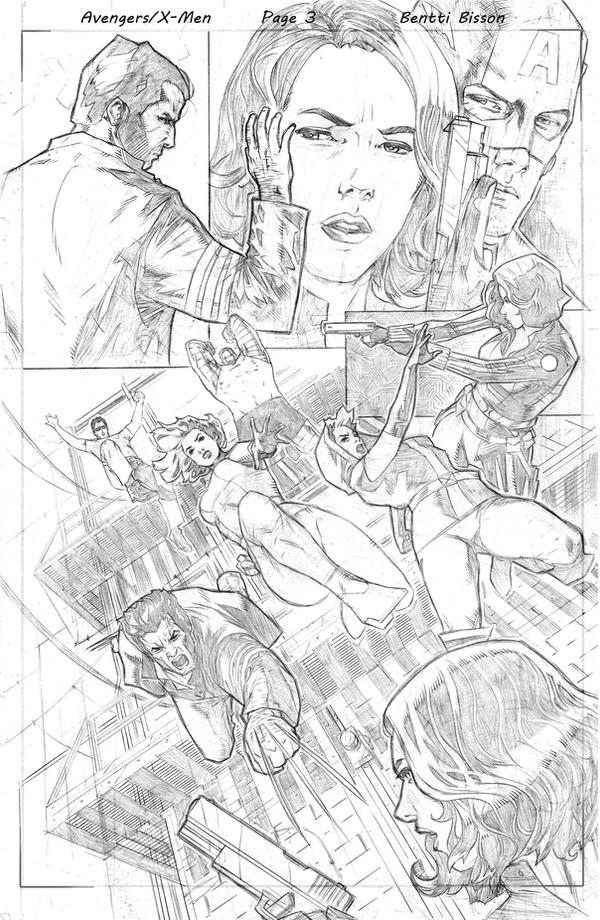 avengers x men pencils sample 3 by benttibisson