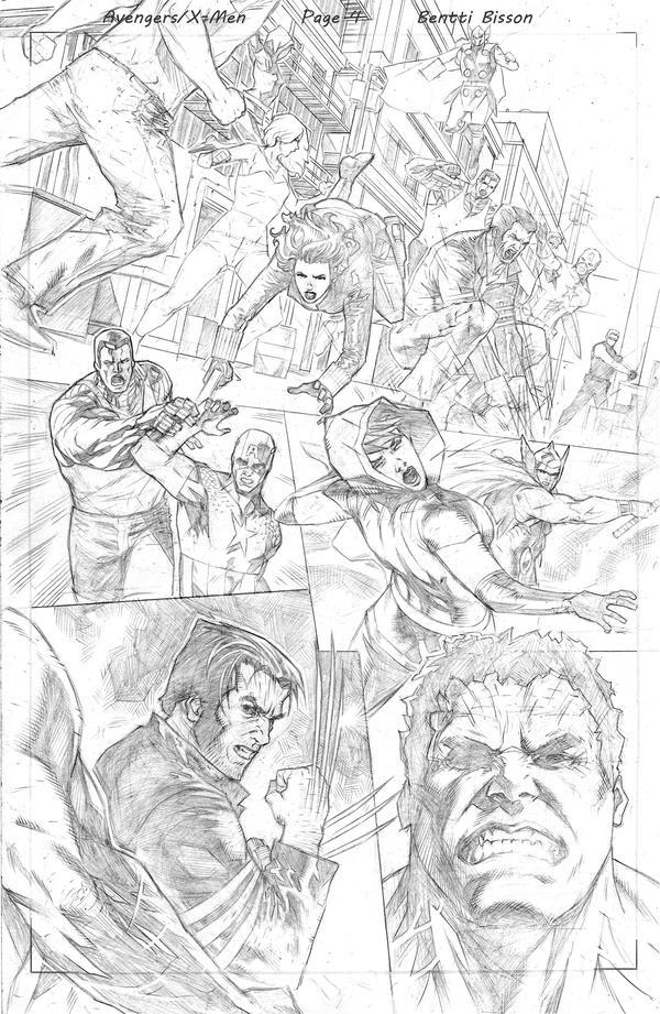 avengers x men cover sample 2 by benttibisson