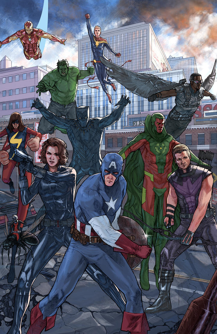 a few Avengers by benttibisson